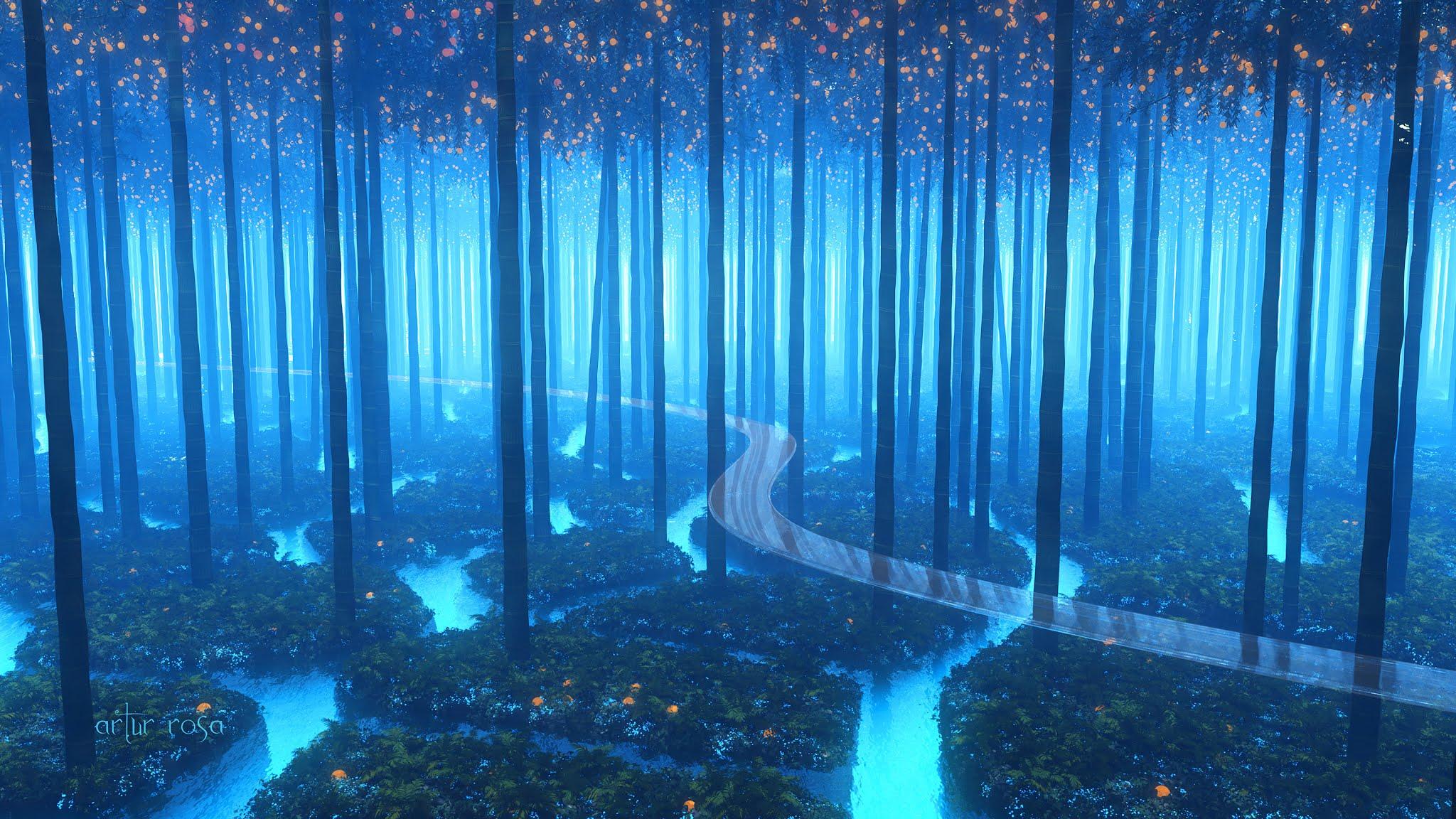 Forest Anime Landscape 4k