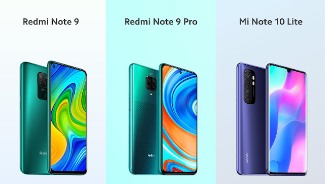 Xiaomi Redmi Note 9 ,Redmi Note 9 Pro & Mi Note 10 Lite Launched,See Pricing & Specifications
