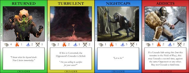 Returned, Turbulent, Nightcaps, Addicts