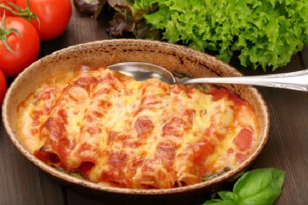 Canelones de ricota y espinaca