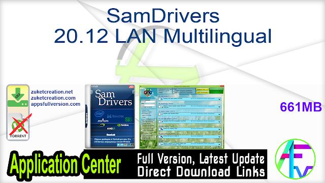 SamDrivers 20.12 LAN Multilingual