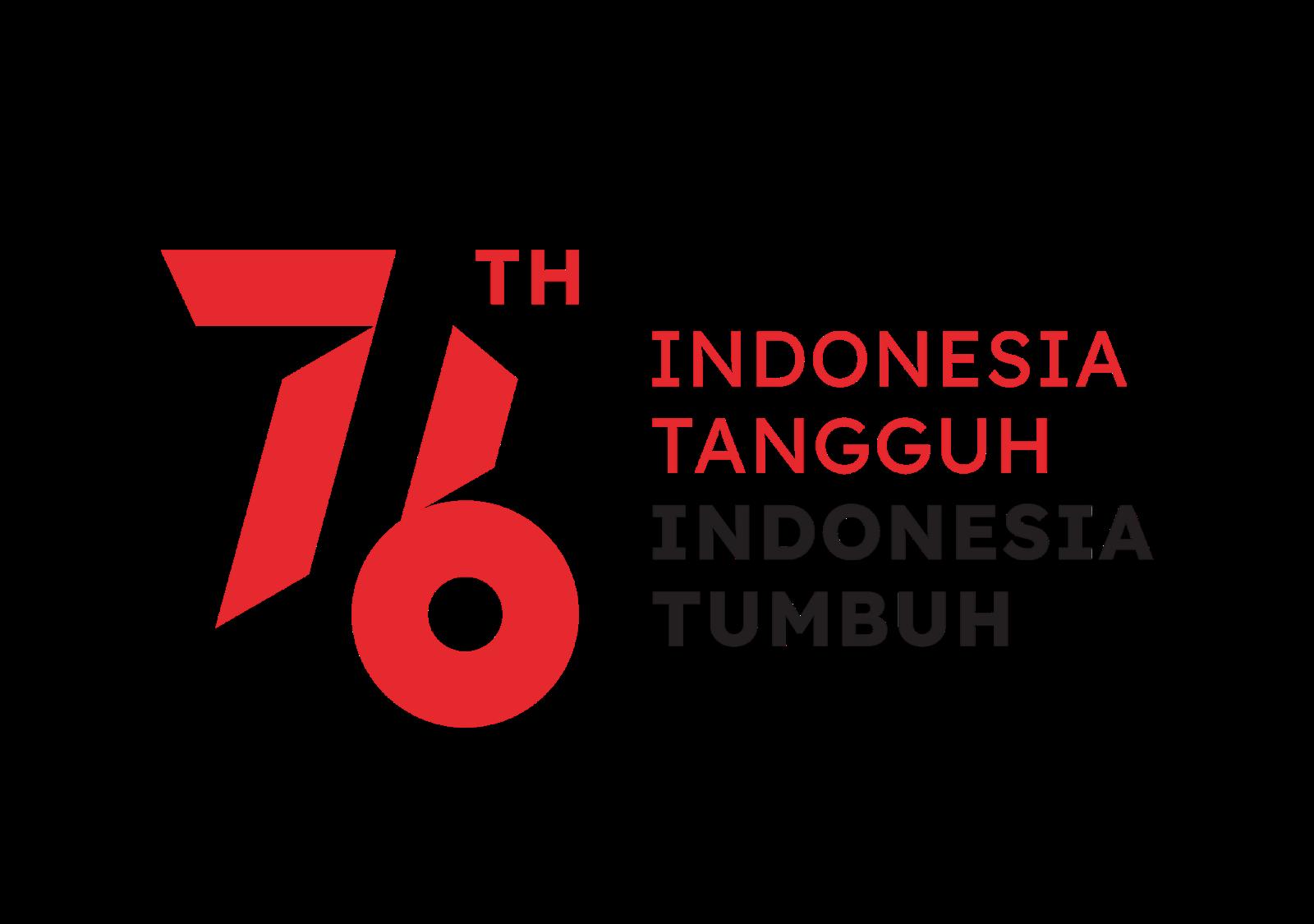 Logo HUT RI ke-76 Format PNG