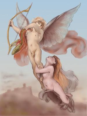 ангел и девушка