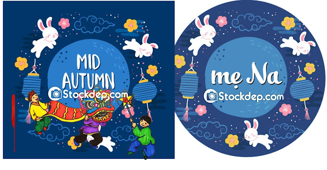 draw mid autumn festival free stock