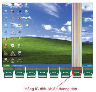 Hình 29 - Hỏng IC- H.Drive là nguyên nhân làm mất 1/8 hình ảnh dọc màn hình.