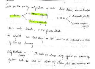 Post Independence Indian History Handwritten Notes for UPSC CSE by Anudeep Shetty (AIR 1)