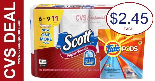CVS Extrabuck Scott Paper Towels Deal 1-17-1-23
