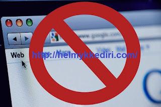 Cara memblokir alamat situs website dikomputer