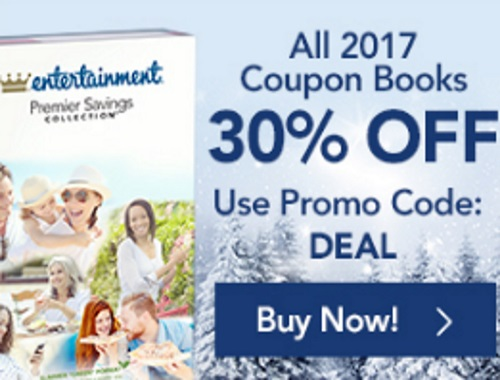 Entertainment 2017 Coupon Books 30% Off