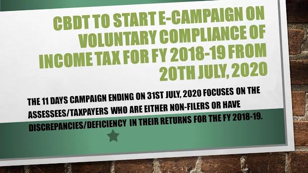 CBDT to start e-campaign on Voluntary Compliance