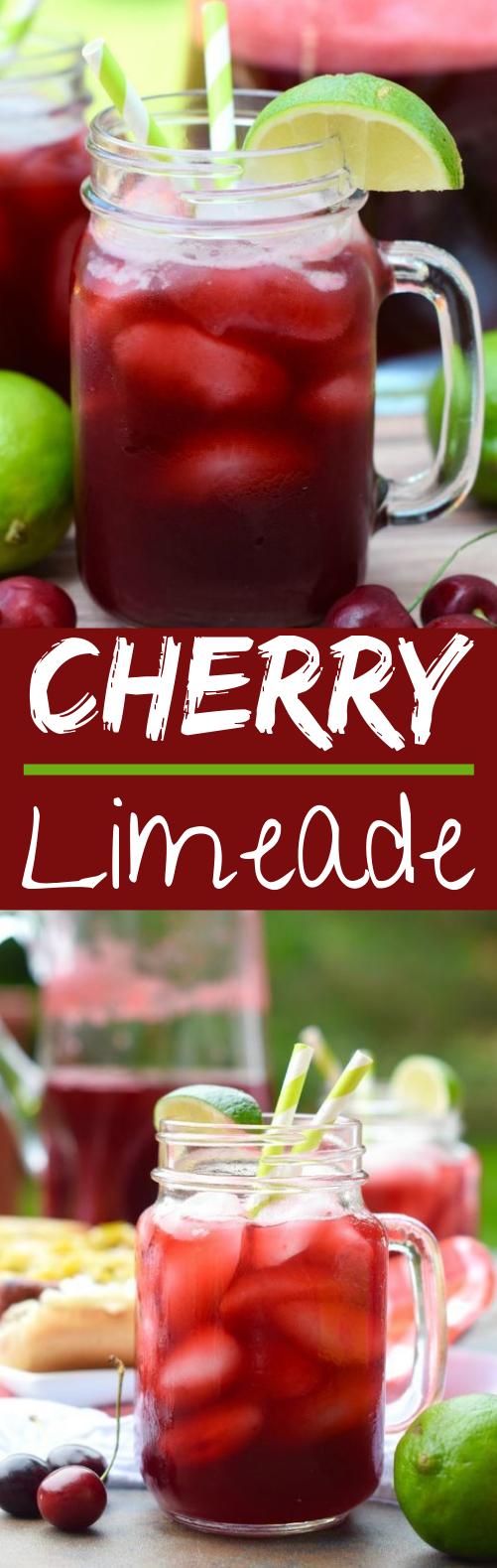 Cherry Limeade #drinks #lemonade