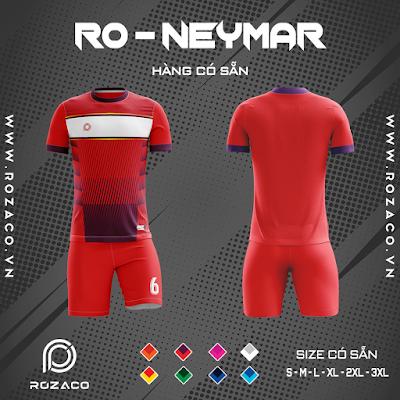 Áo Không Logo Rozaco RO-NEYMAR Màu Đỏ