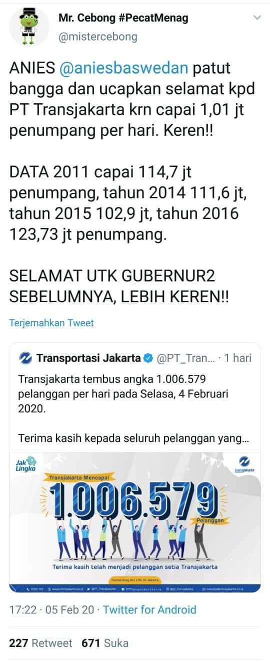 Niat Bully Anies Gagal Total, Malah Bikin Malu Ahok-Jokowi-NU