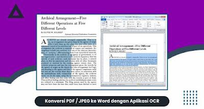 Konversi PDF - JPEG ke Word dengan Aplikasi OCR