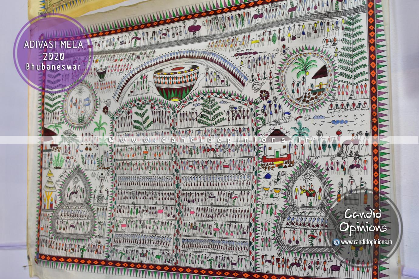 Saura Painting, Adivashi Mela 2020, Bhubaneswar