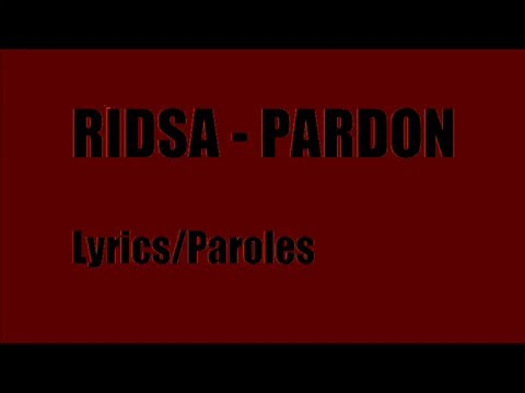 mp3 ridsa pardon