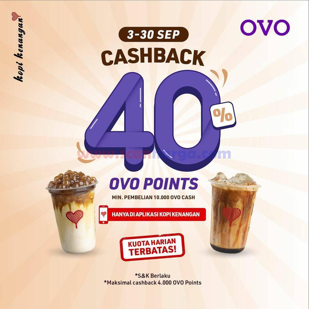 Kopi Kenangan Promo Cashback 40 % Pakai OVO