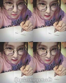 Foto Selca Irene Red Velvet Imut pakai Kacamata bundar