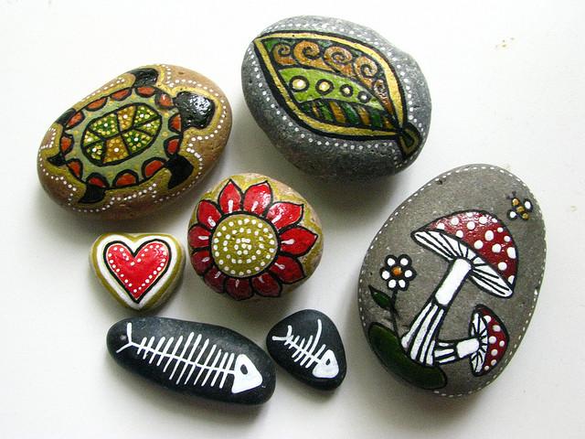 El blog de la elena un blog dulce divertido y for Pintura de piedras