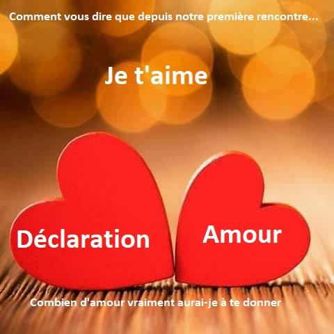 image Déclaration d'amour