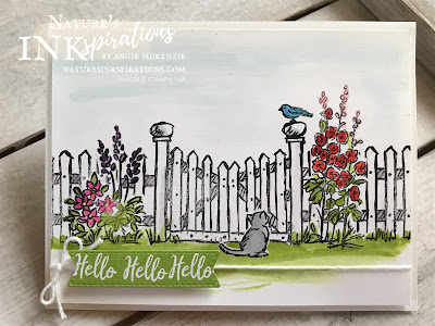 #JOSTTT018 Design Team Inspiration by Angie McKenzie using Grace's Garden by Stampin' Up! for the vertical row of Nature, Watercolor, Masking