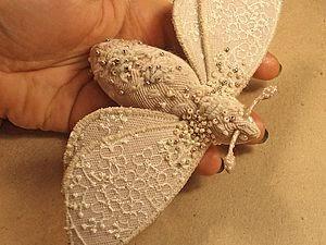 motyl z koronki z haftem