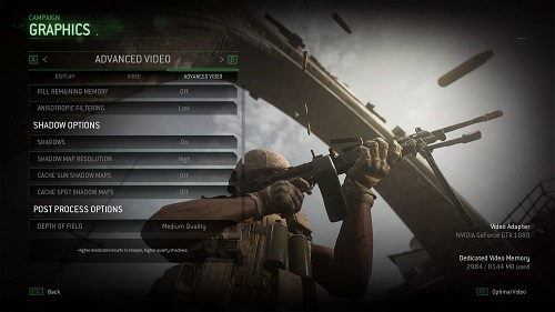 Call of Duty: Modern Warfare Graphics Options