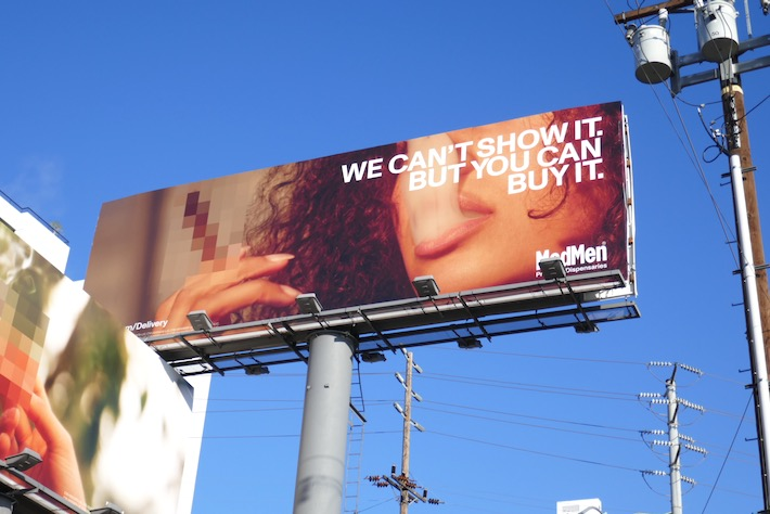 We cant show it MedMen cannabis billboard