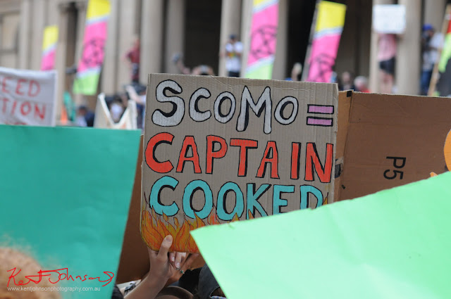Sydney Climate Rally -'Scomo Captain Cooked'