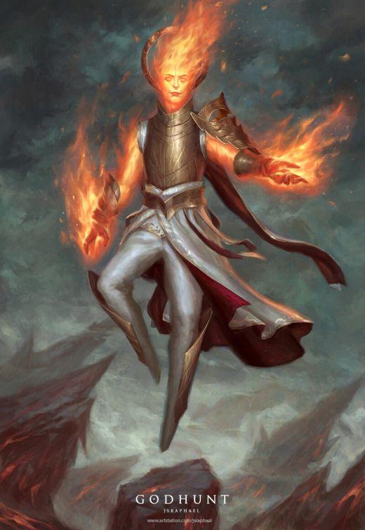 Joshua Raphael artstation arte ilustrações fantasia games magia
