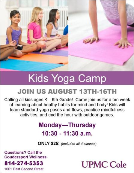 8-15/16 Kids Yoga Camp