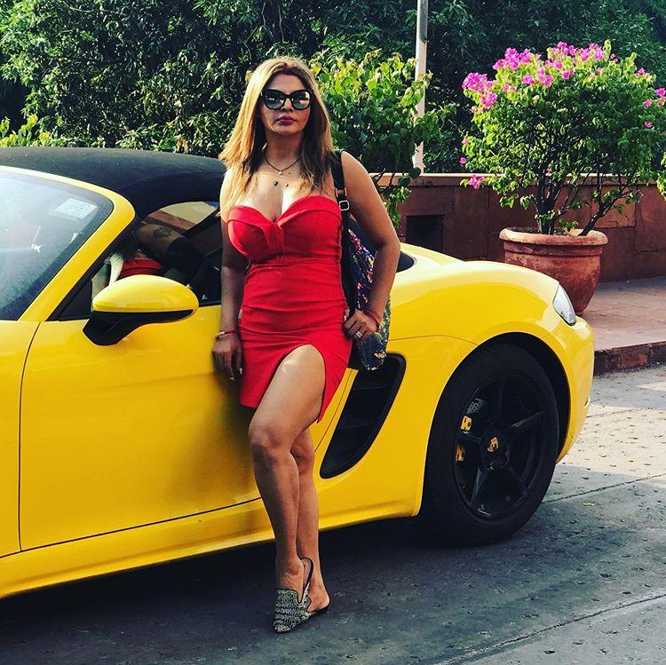 Lovely sexy look Short Dress Rakhi Sawant Hot Photoshoot pic
