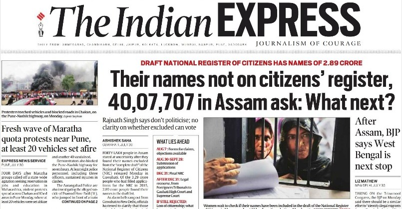 The Indian Express ePaper News 31 July 2018, The Indian Express News