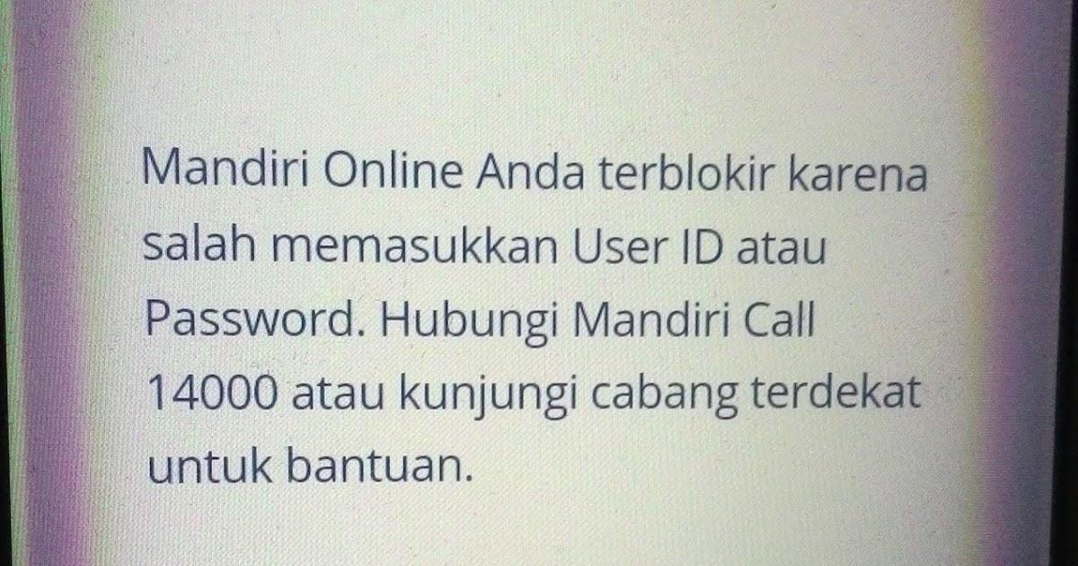 Mandiri online terblokir