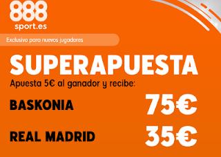 888sport superapuesta acb Baskonia vs Real Madrid 3 noviembre 2019