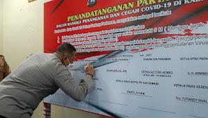 Polres Padang Pariaman AKBP Dian Nugraha Tandatangani Pakta Integritas Duta Govid-19