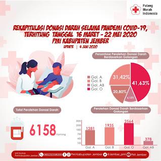 PMI Kabupaten Jember Sukses Himpun 6.158 Kantong Darah  Selama Pandemi Covid-19