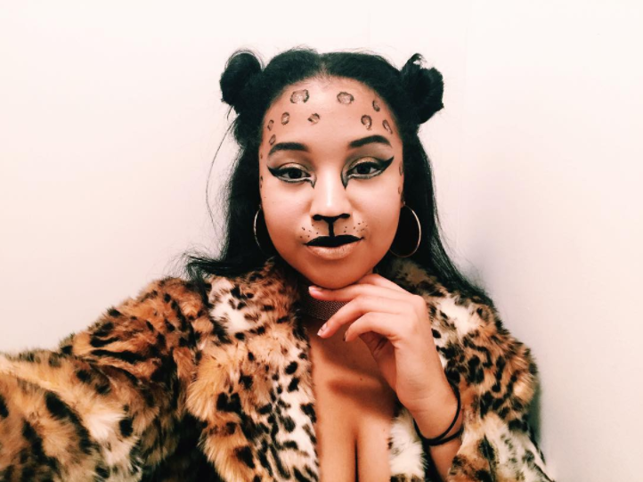 Cheetah Halloween Costume Makeup