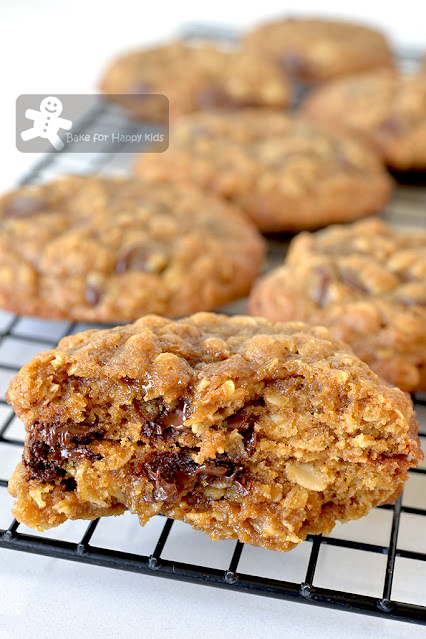 sweet salty salted butter sticky oatmeal salted caramel chocolate chip cookies