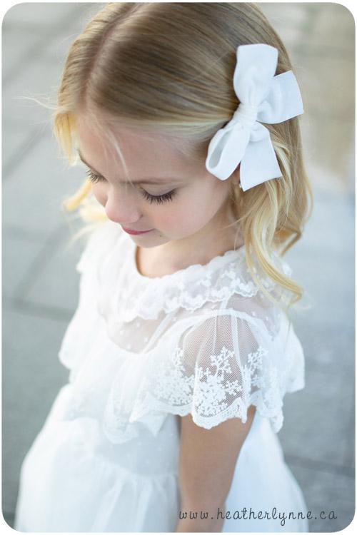 White Dress Baptism Photography