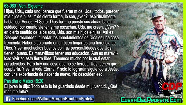 Dios ha puesto sus almas bajo mi cuidado - William Branham en Español