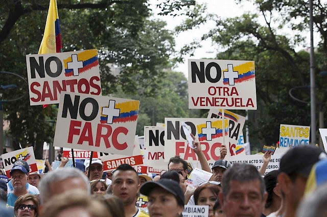 O povo colombiano não acreditou em Santos, e repeliu os enganosos 'Acordos de Paz'