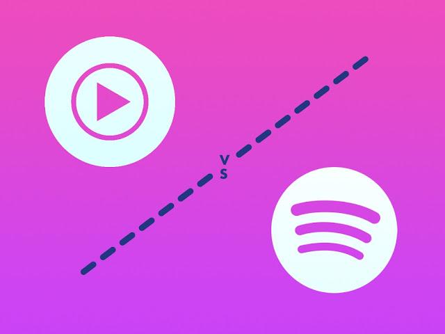 perbedaan spotify vs youtube music