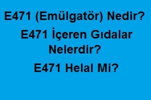 E471 (Emülgatör) Nedir? E471 İçeren Gıdalar Nelerdir? E471 Helal Mi?