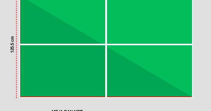Gambar Lapangan Tenis Meja beserta Ukurannya  9 Sport