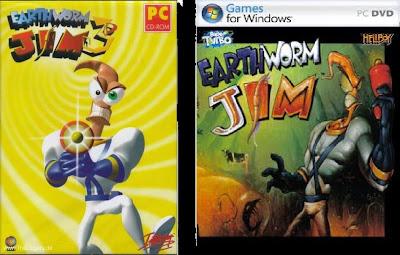 Jogo Earthworm Jim 3D PC DVD Capa