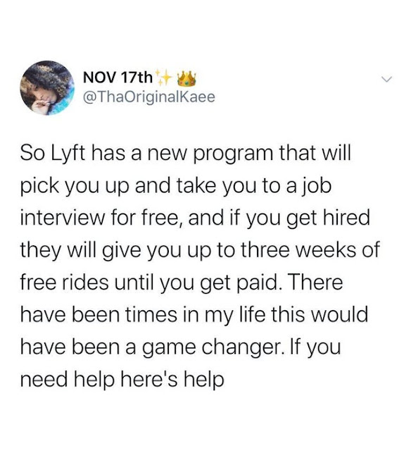 Lyft Free Ride to Interview