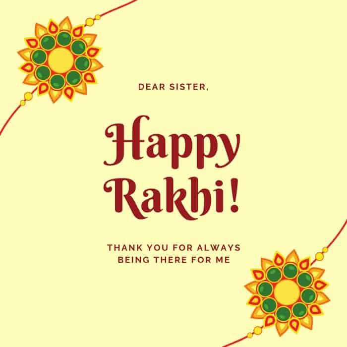 raksha bandhan thanks sister