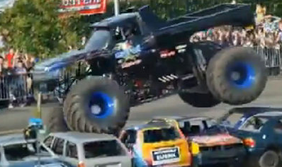Accidente de monster truck en Holanda