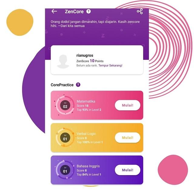 Download aplikasi Zenius untuk anak belajar dirumah